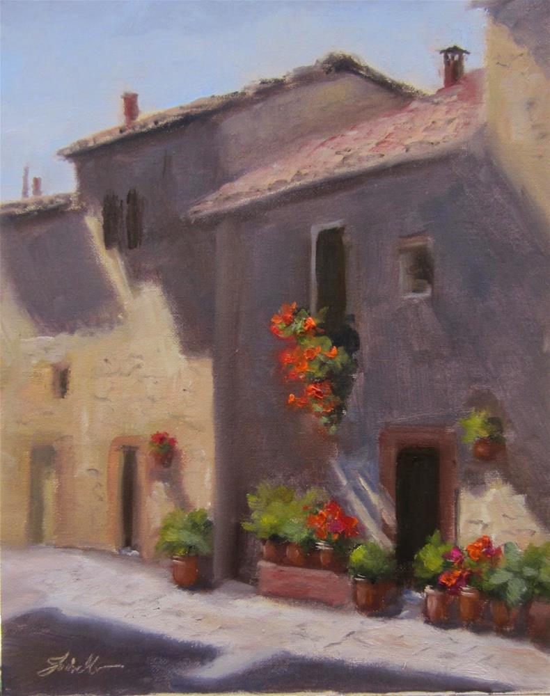 """""""Pienza Light"""" original fine art by Pat Fiorello"""