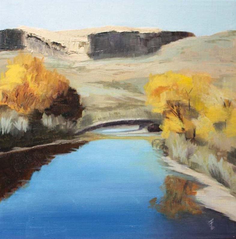 """Salt Wash III - Wolfe Ranch UT"" original fine art by Jane Frederick"