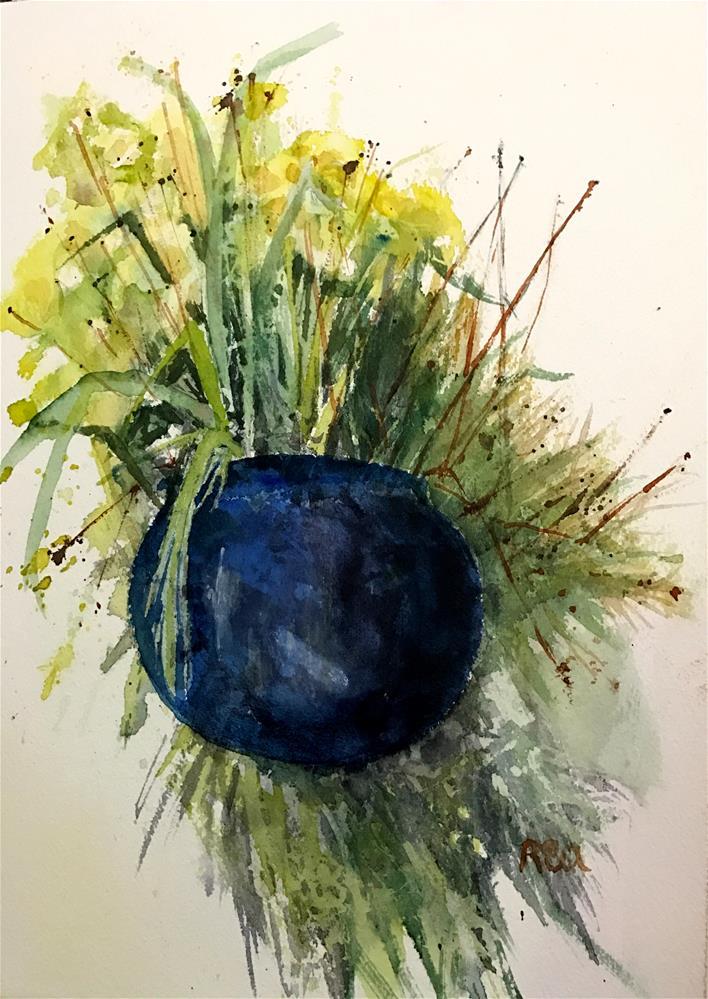"""""""blue vase"""" original fine art by Betty Argiros"""