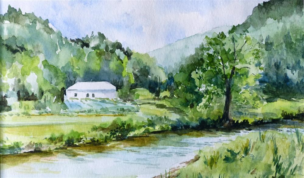 """Creek near Boone, NC"" original fine art by Judith Freeman Clark"