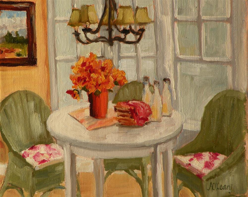 """Breakfast Nook"" original fine art by Alice O'Leary"