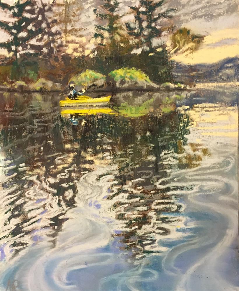 """""""Kayaking in BC"""" original fine art by Natasha Ramras"""