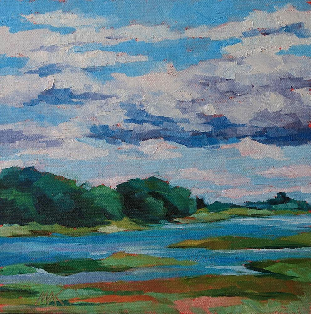 """Spurwink River 2"" original fine art by Mary Anne Cary"