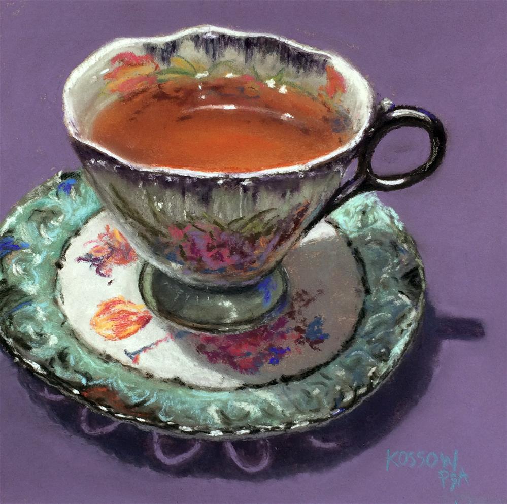 """Teacup 7290"" original fine art by Cristine Kossow"