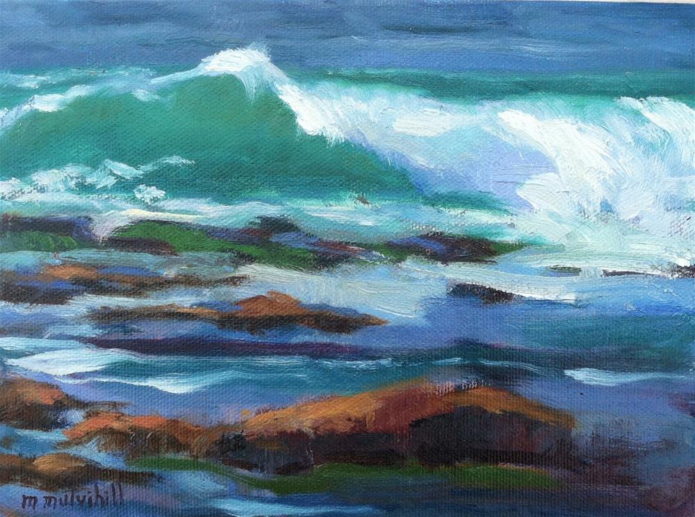 """Green Wave"" original fine art by Mary Mulvihill"