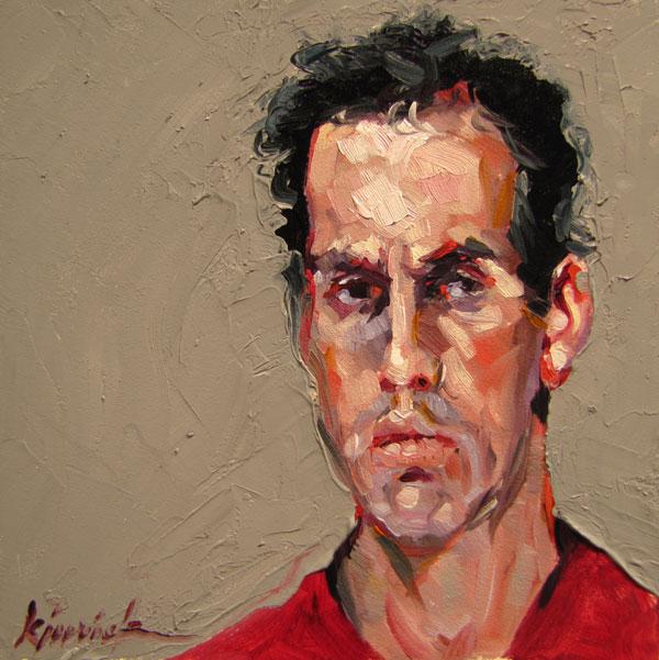 """100 Faces, No. 17"" original fine art by Karin Jurick"