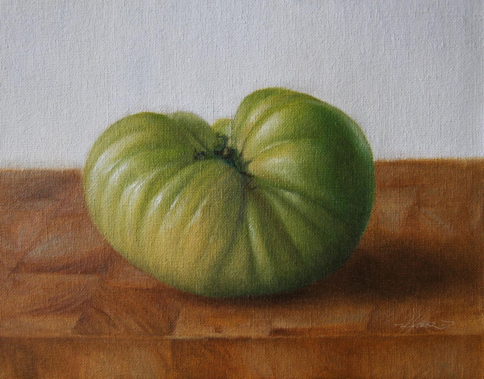 """Green Heirloom"" original fine art by Jonathan Aller"