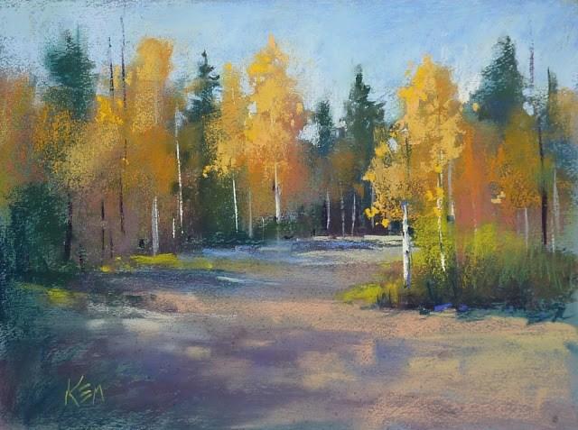 """Aspen Series Part 3 ...A Softer Approach To Painting Trees"" original fine art by Karen Margulis"