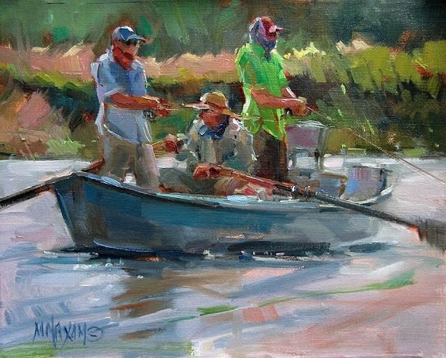 """River Color"" original fine art by Mary Maxam"