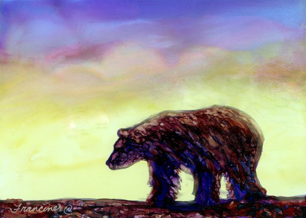 """The Bear"" original fine art by Francine Dufour~Jones"