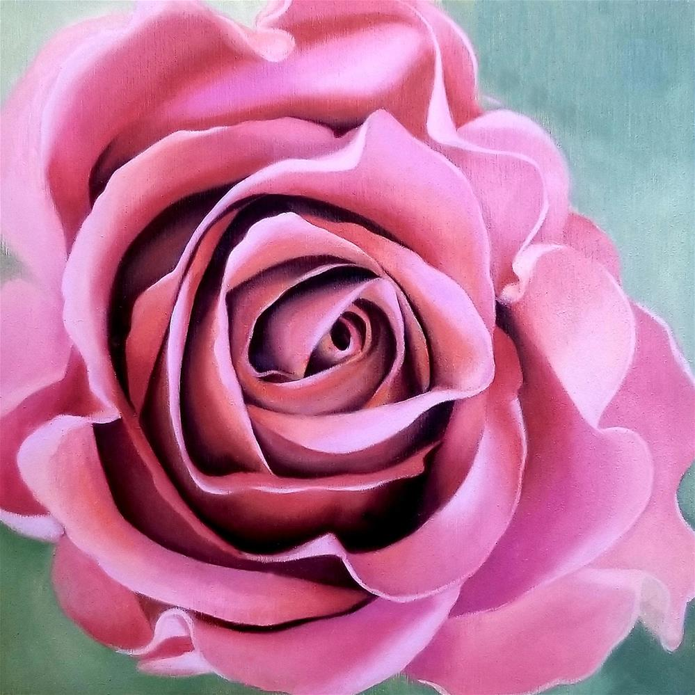 """Magenta Rose"" original fine art by Elaine Brady Smith"