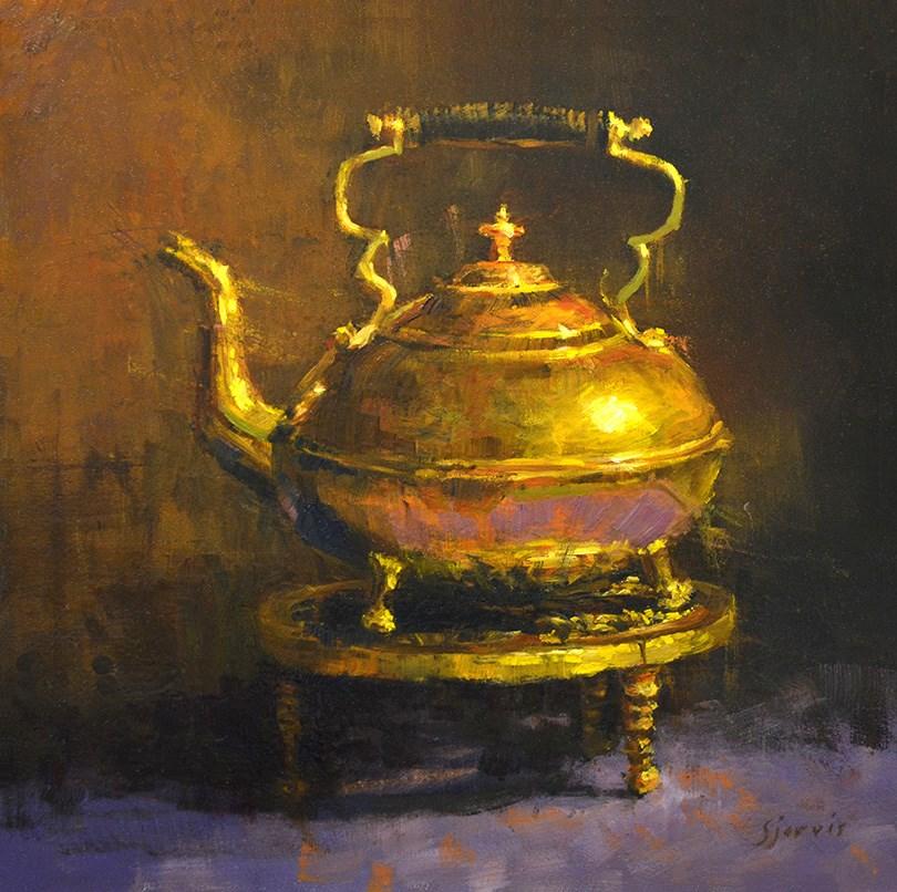 """Brass Teapot"" original fine art by Susan N Jarvis"