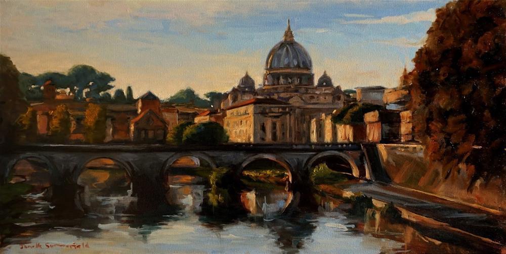 """""""View of Rome II"""" original fine art by Jonelle Summerfield"""