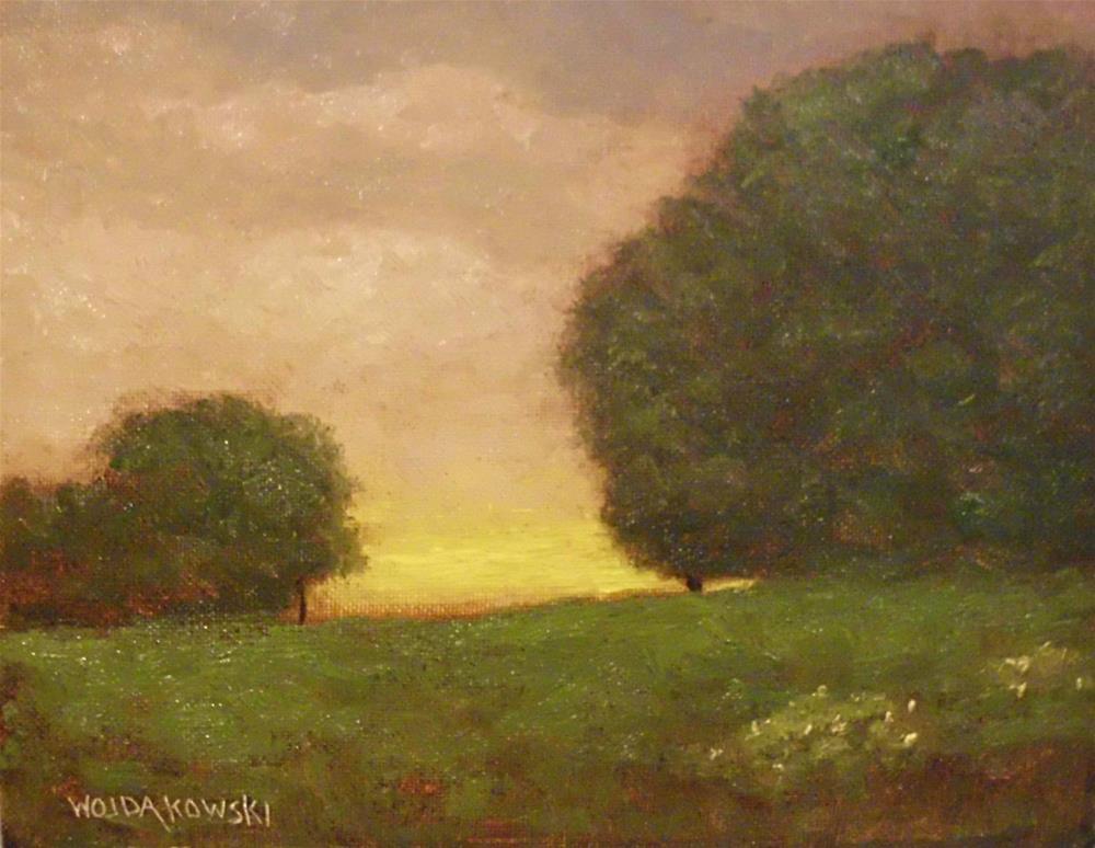 """Evening Solitude"" original fine art by Joe Wojdakowski"