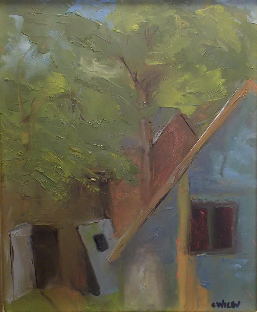"""Pete's Shed"" original fine art by Carol Wiley"