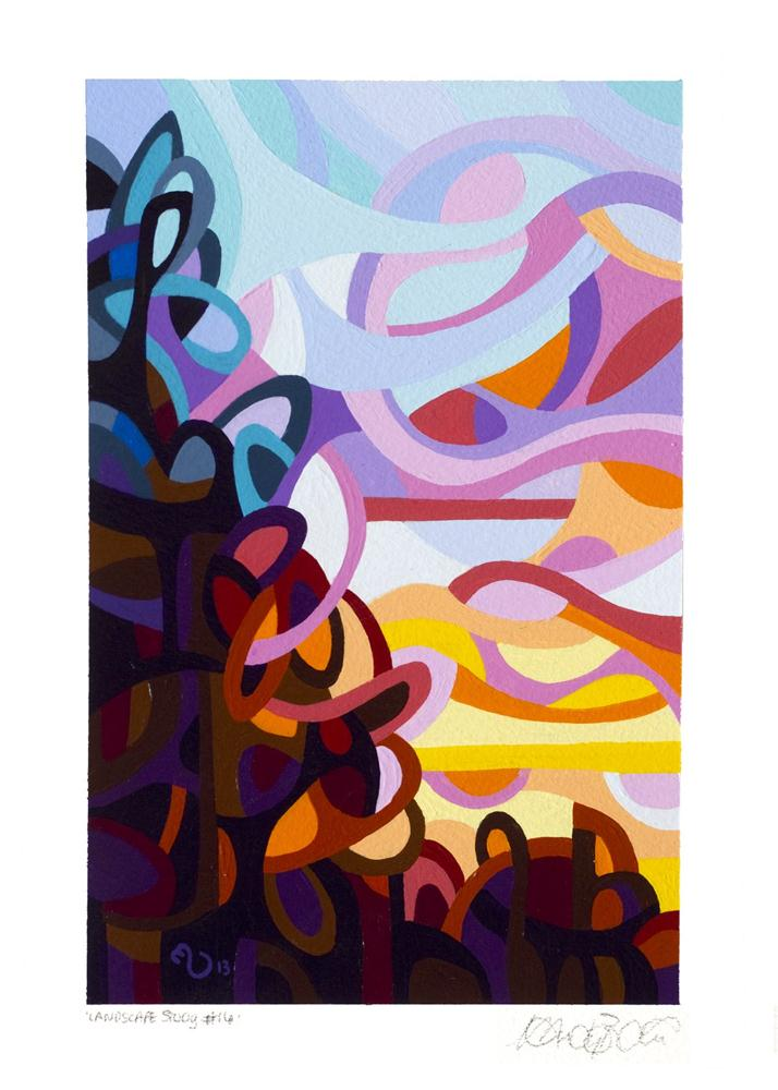 """Landscape Study #16"" original fine art by Mandy Budan"