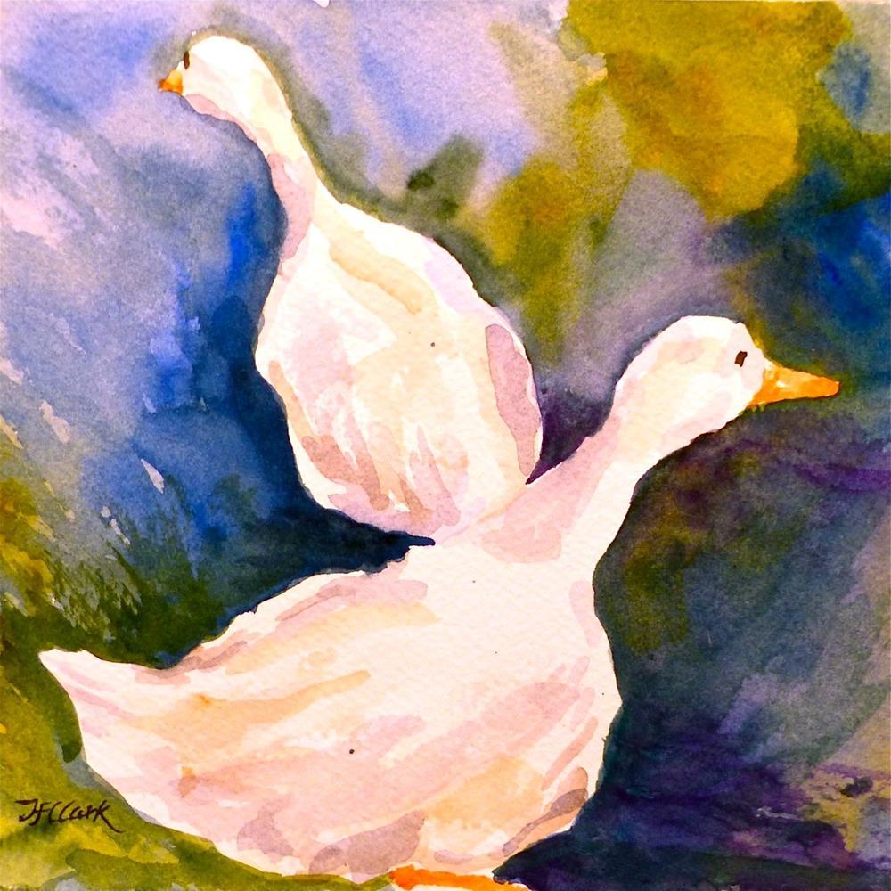 """Which way did they go?"" original fine art by Judith Freeman Clark"
