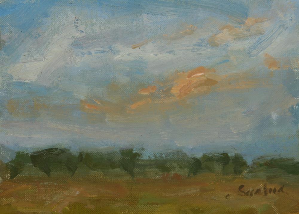 """Sunrise Study - South Texas"" original fine art by Scott Serafica"