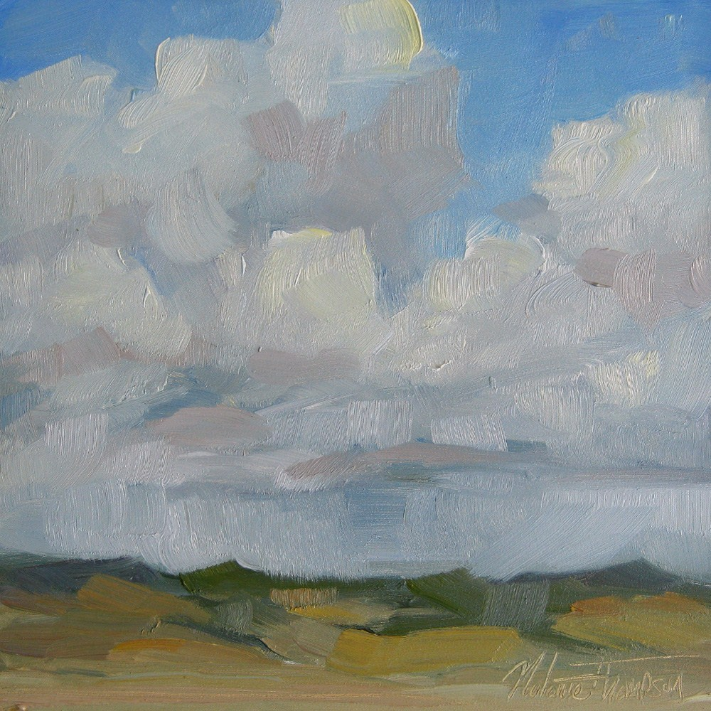 """Kittitas Clouds"" original fine art by Melanie Thompson"