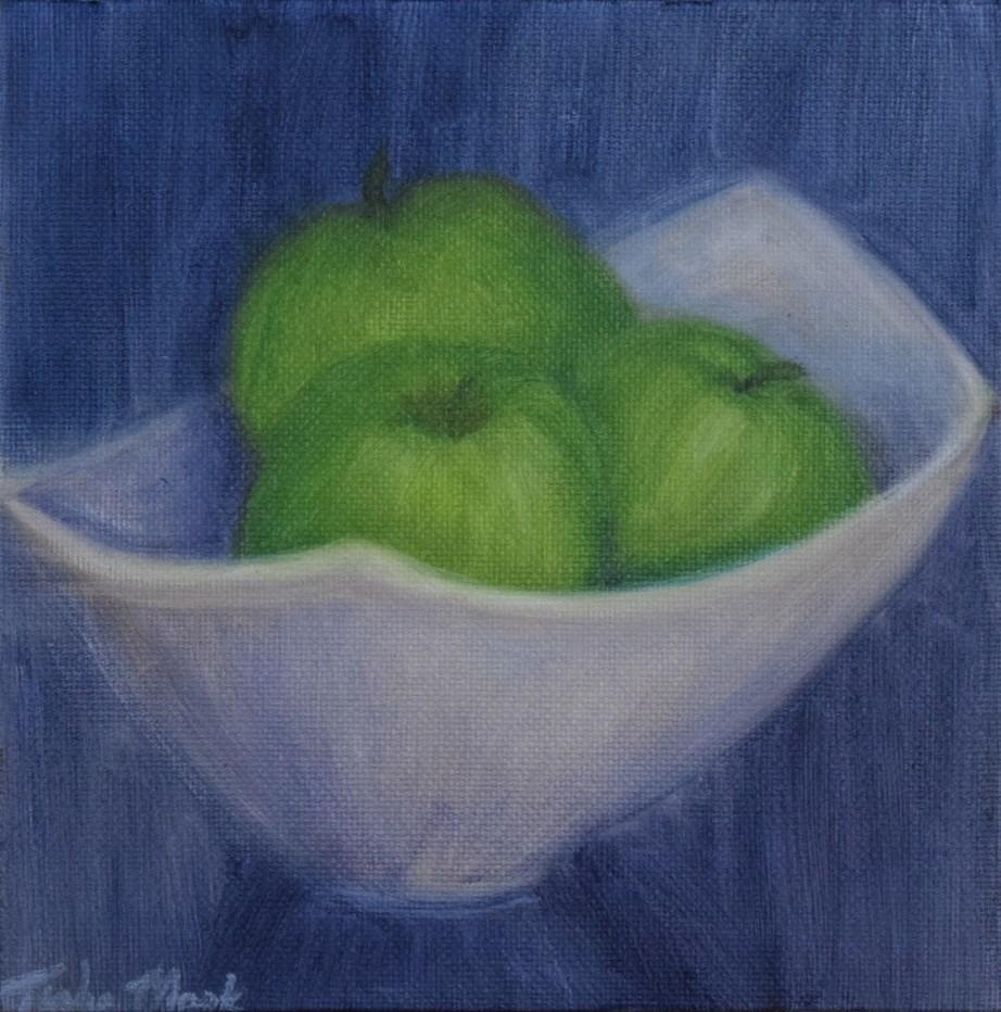 """Green Apples"" original fine art by Tisha Mark"