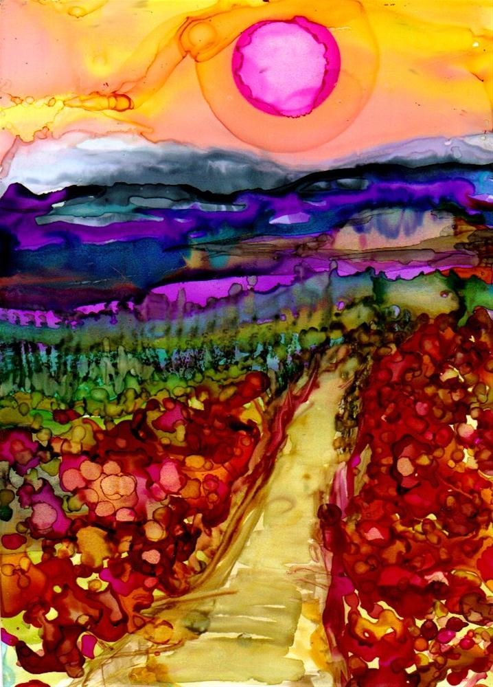 """poppy path"" original fine art by Kristen Dukat"
