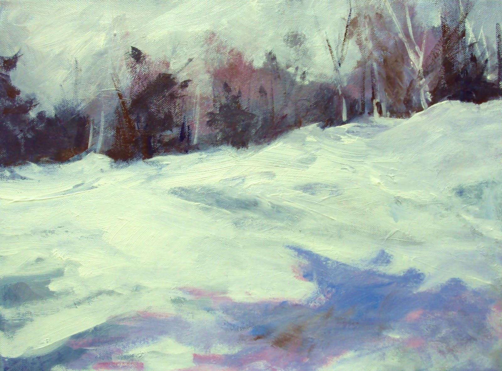 """Beautiful winter"" original fine art by Parastoo Ganjei"