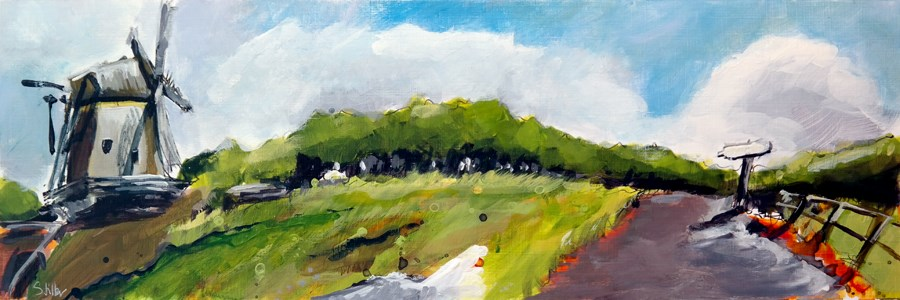 """2481 Acrylic Landscape Sketch VII"" original fine art by Dietmar Stiller"