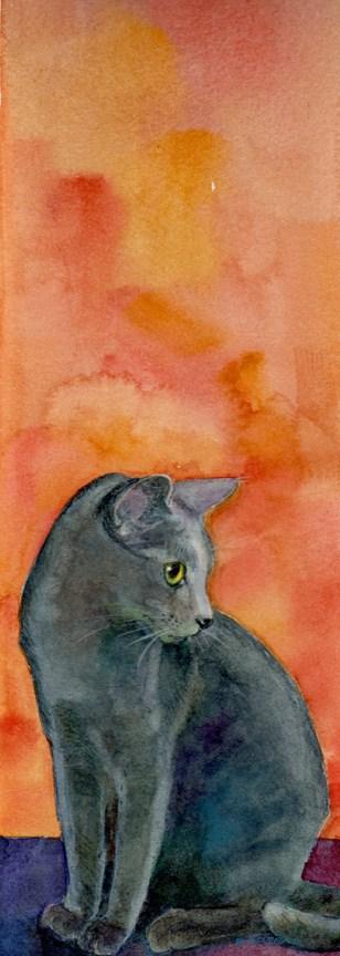 """""""Watercolor: Siri"""" original fine art by Belinda Del Pesco"""