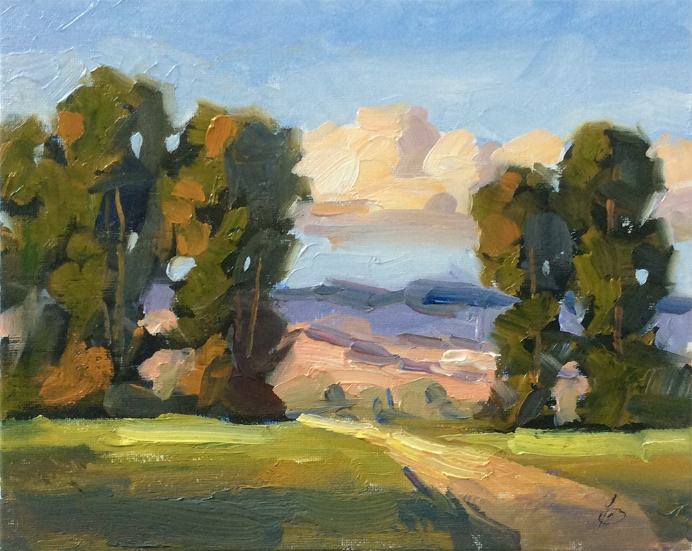 """CALIFORNIA IMPRESSIONIST LANDSCAPE"" original fine art by Tom Brown"