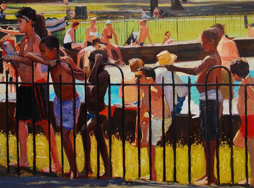 """Summerlight II"" original fine art by Adebanji Alade"