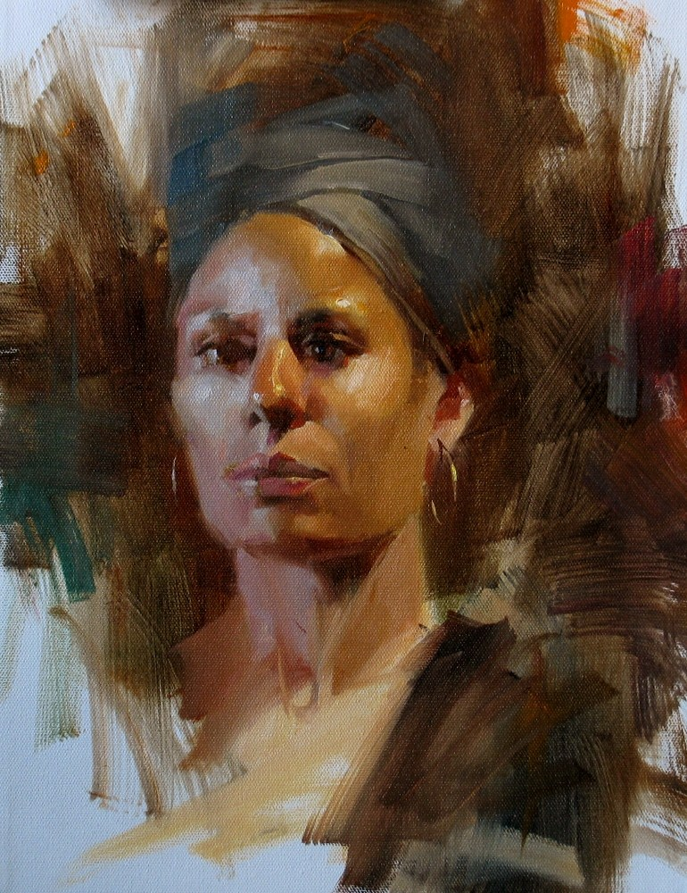 """AAU Portrait Painting 6"" original fine art by Qiang Huang"
