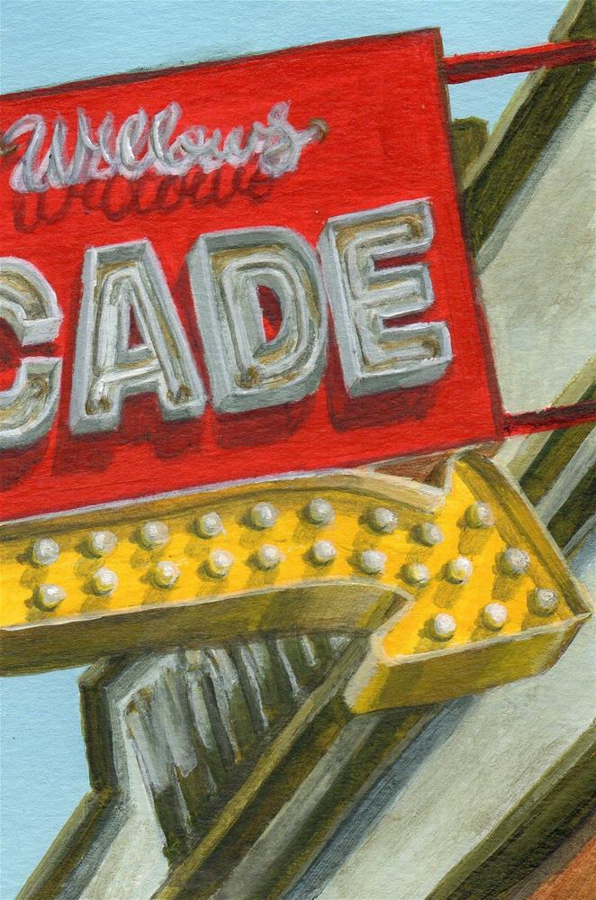 """Arcade"" original fine art by Debbie Shirley"