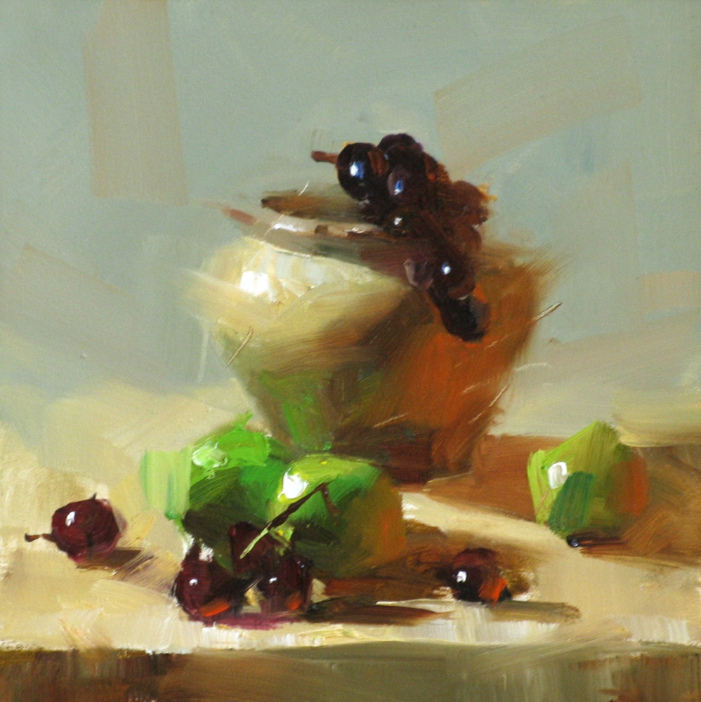 """Limes and Grapes"" original fine art by Qiang Huang"