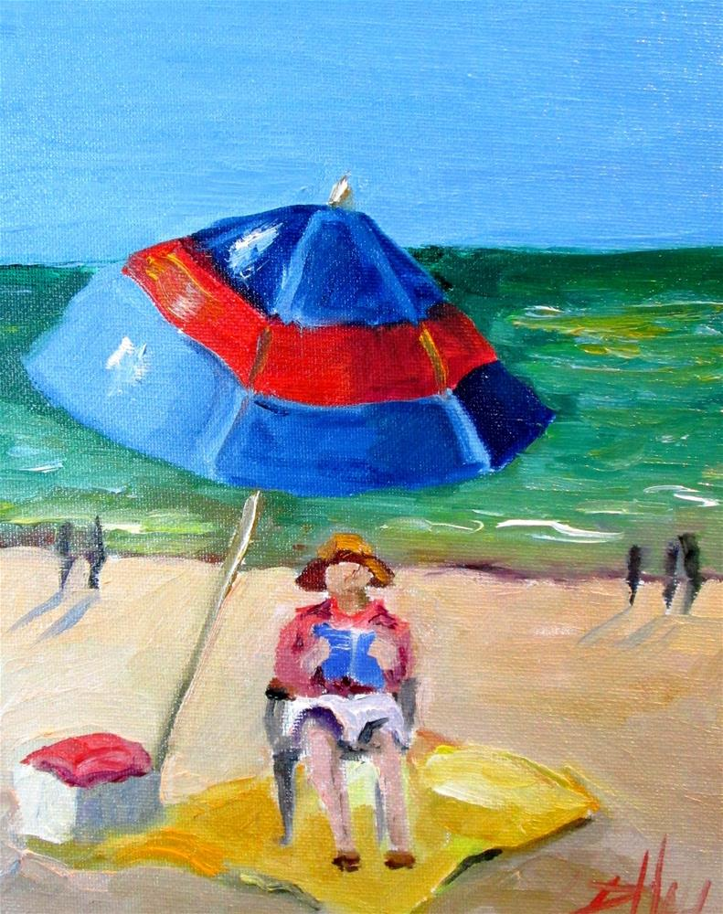 """Beach Read"" original fine art by Delilah Smith"
