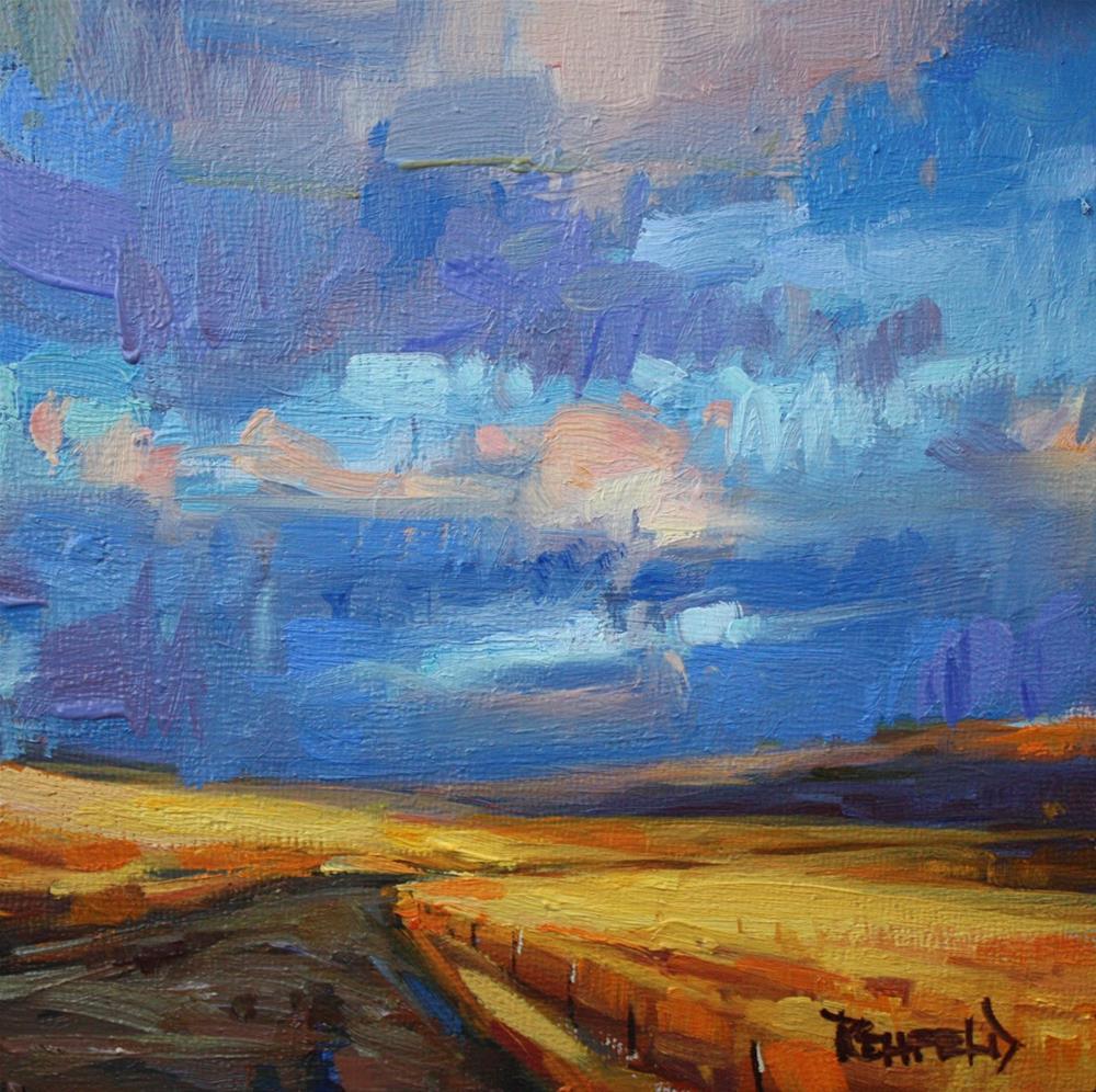 """Smell The Rain"" original fine art by Cathleen Rehfeld"