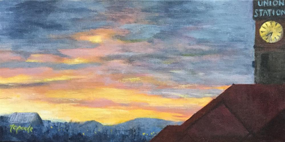 """""""View From Broadway"""" original fine art by T.C. Poole"""