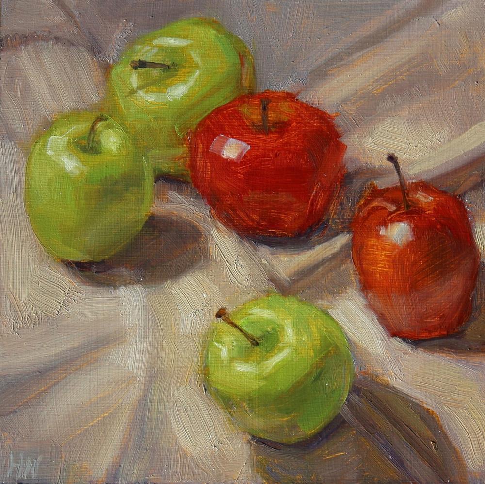 """Apples to Apples"" original fine art by Heather Nibert"