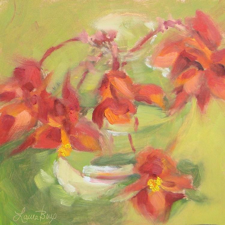 """Pretty in Red 428"" original fine art by Laura  Buxo"