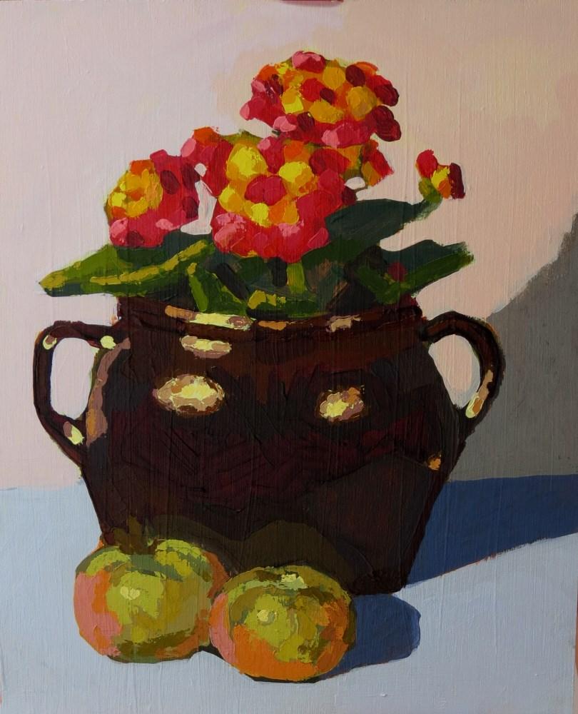 """Lantana"" original fine art by Joan Wiberg"