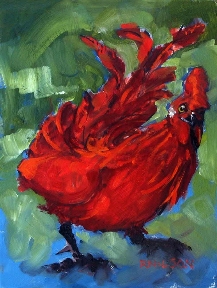 """""""Lil Red Rooster (SOLD)"""" original fine art by Rick Nilson"""