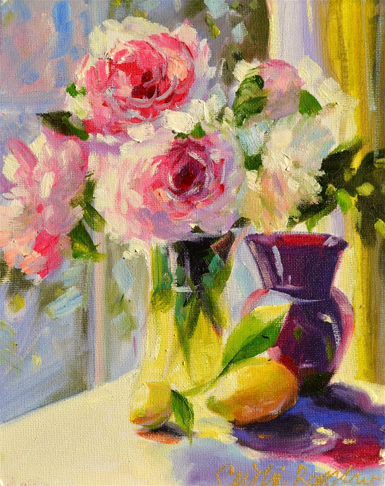 """ROSES"" original fine art by Cecilia Rosslee"