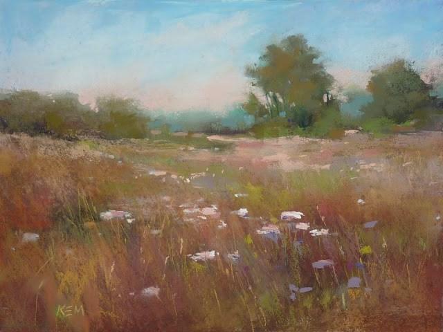 """The Power of Marks...Reworking an Older Painting"" original fine art by Karen Margulis"