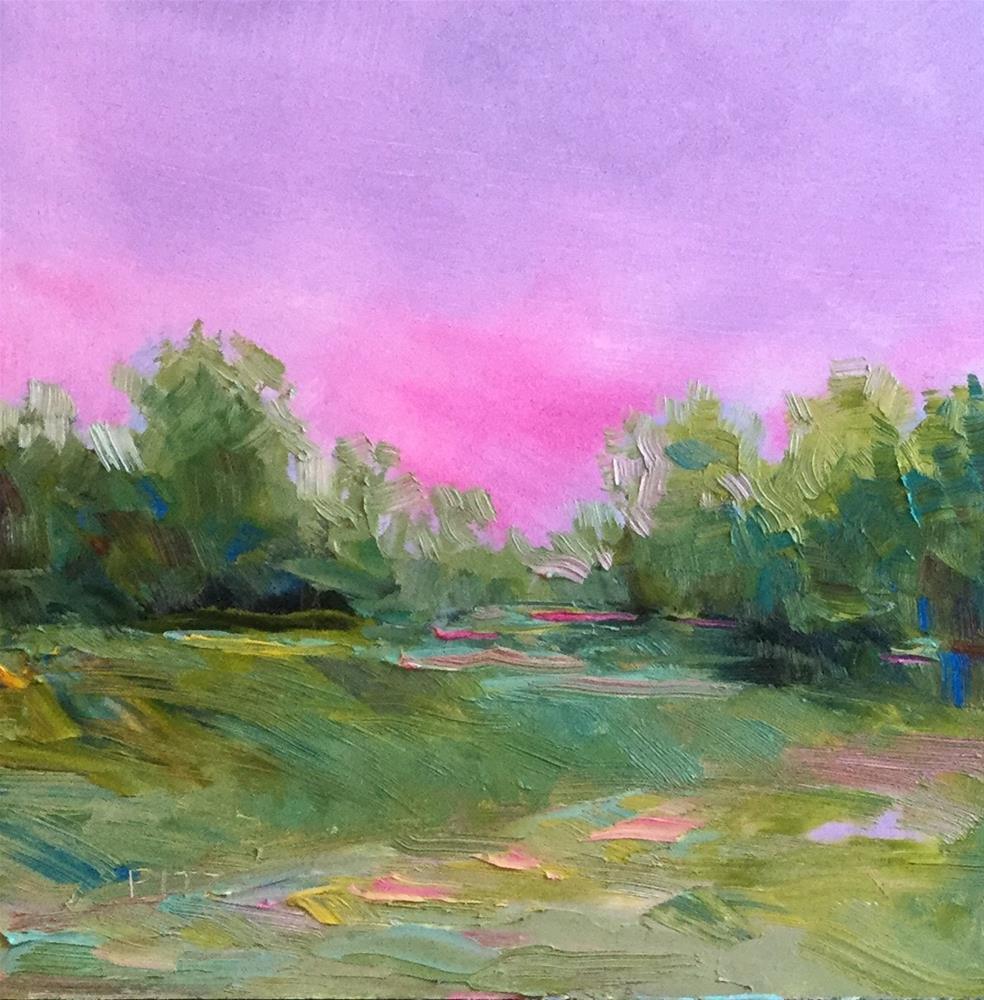 """""""Plum Colored Sky"""" original fine art by Charlotte Fitzgerald"""