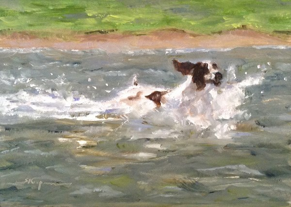 """Splashing In"" original fine art by Shelley Koopmann"