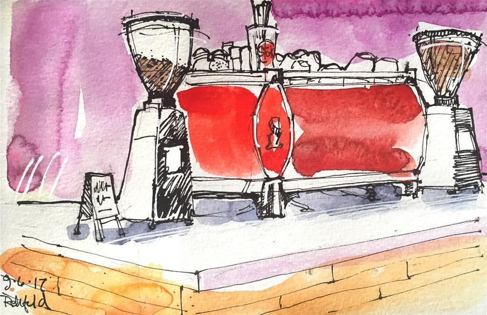 """La Marzocco"" original fine art by Cathleen Rehfeld"