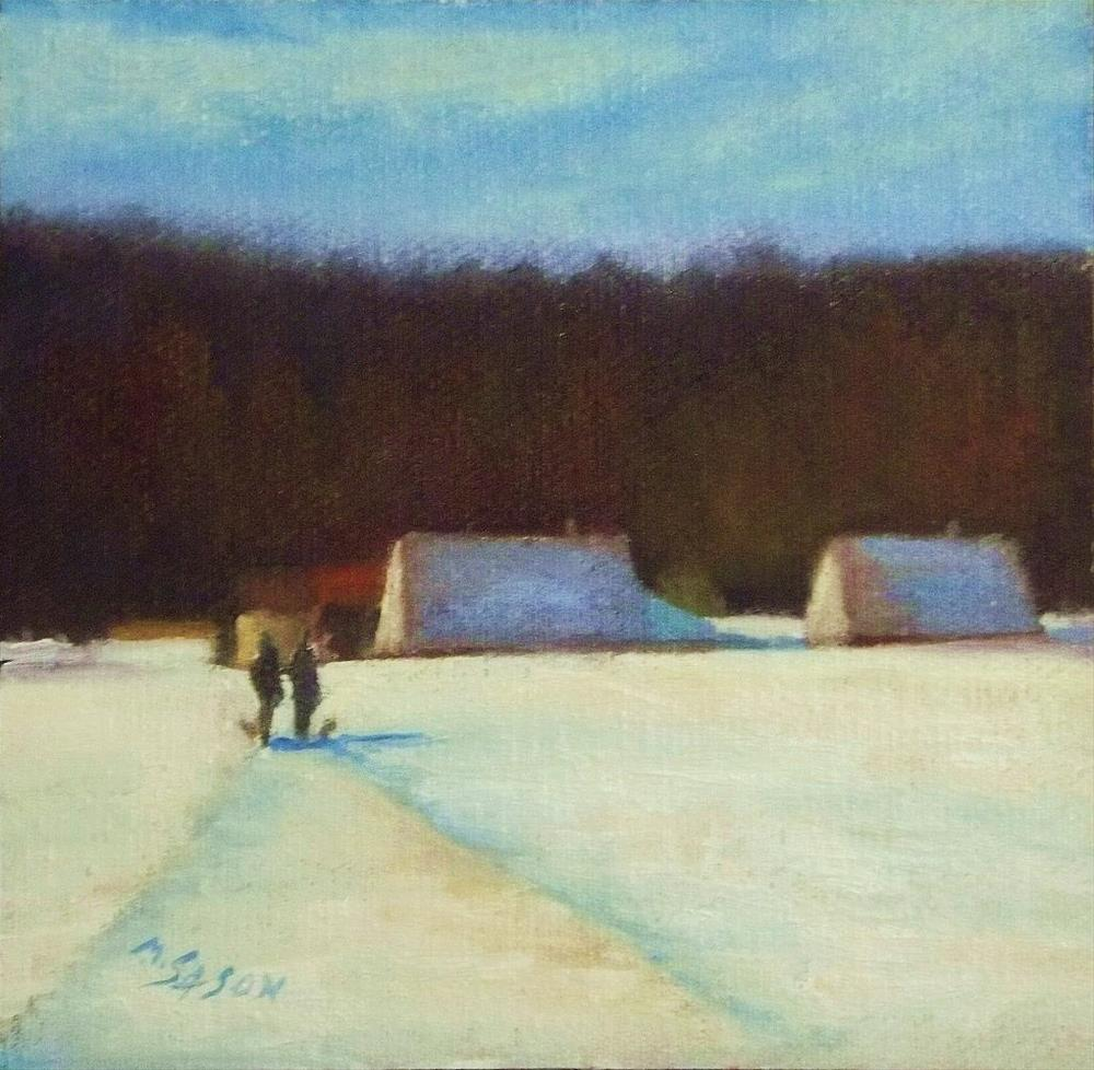 """""""Going out with the dogs"""" original fine art by Michael Sason"""