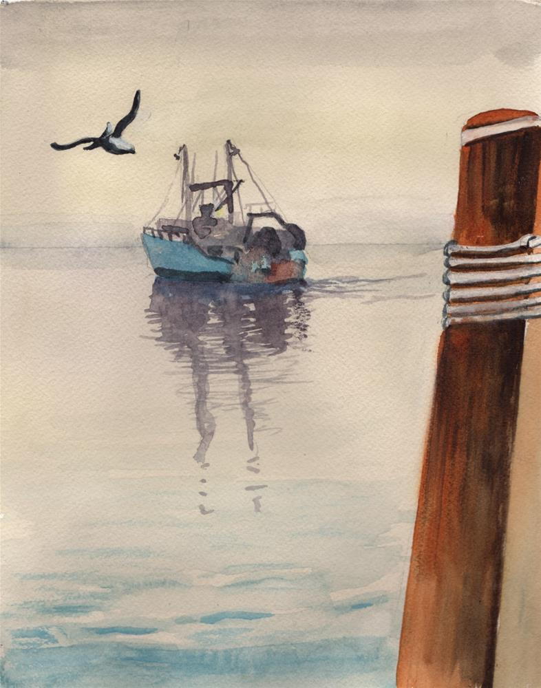 """""""Going Fishing"""" original fine art by Bunny Griffeth"""