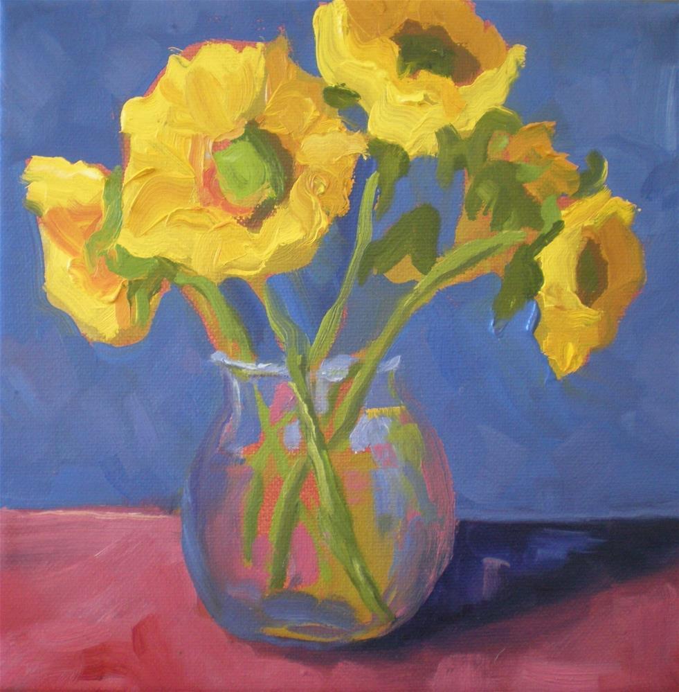 """""""Yellow Flowers"""" original fine art by Loralee Chapleau"""