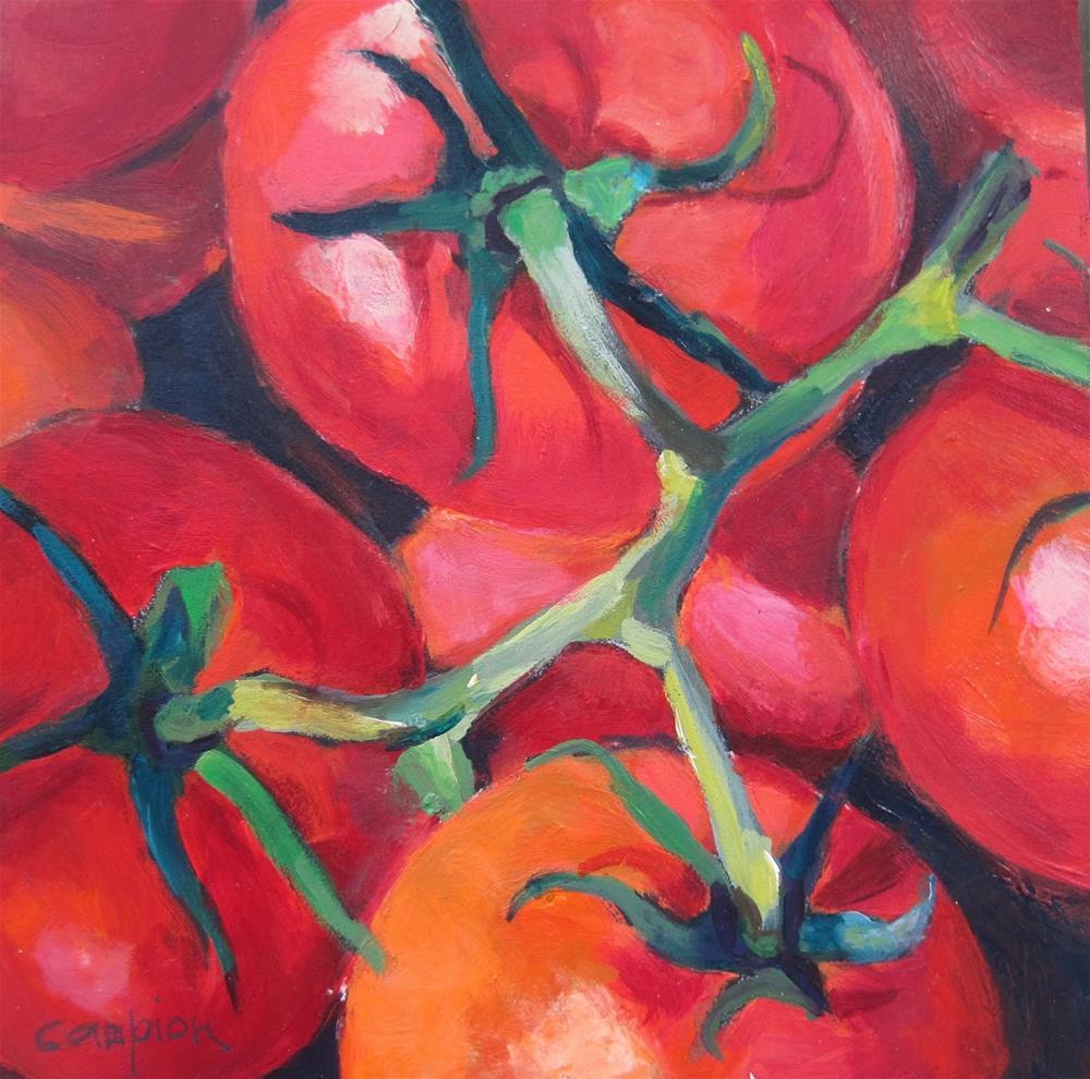 """TomAHtoes"" original fine art by Diane Campion"