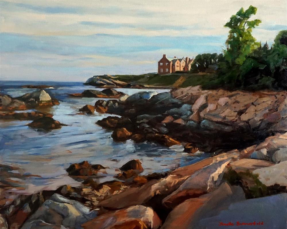 """Along the Cliff Walk"" original fine art by Jonelle Summerfield"